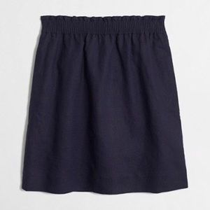 J Crew Navy Linen Cotton Mini Skirt 2